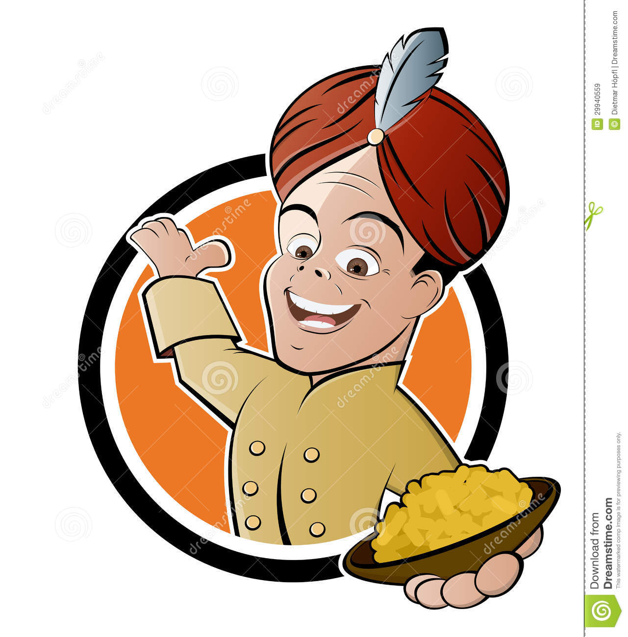 Indian Cook With Bowl Of Curried Rice Royalty Free Stock