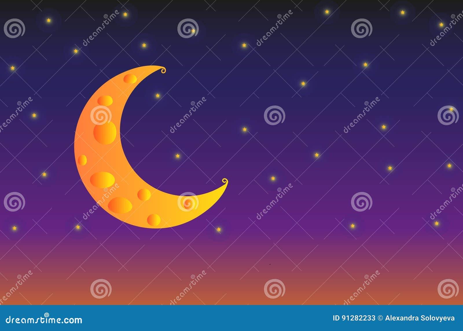 Illustration - solnedgångsoluppgång med ostmånen
