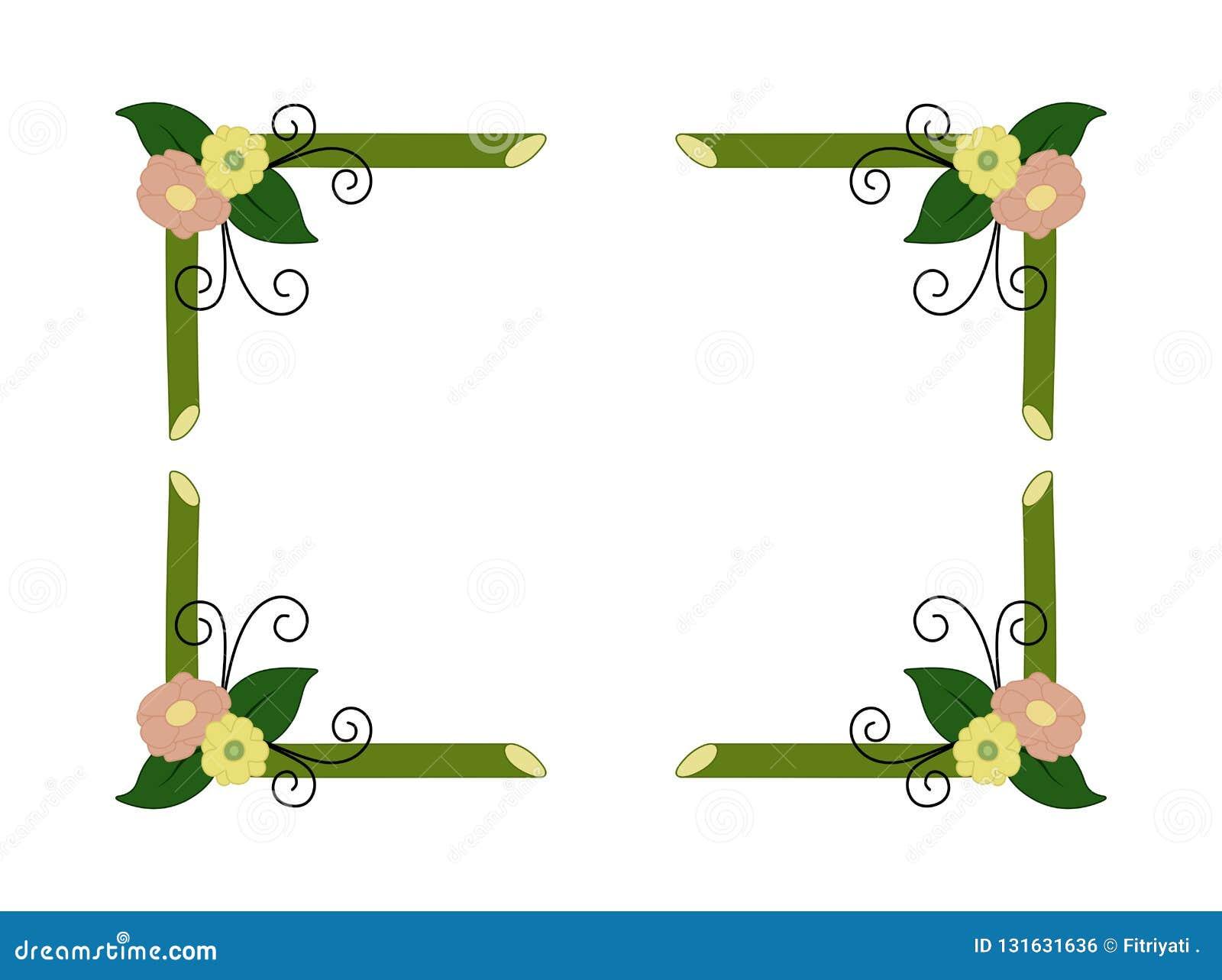Clip Art Bamboo Border Design