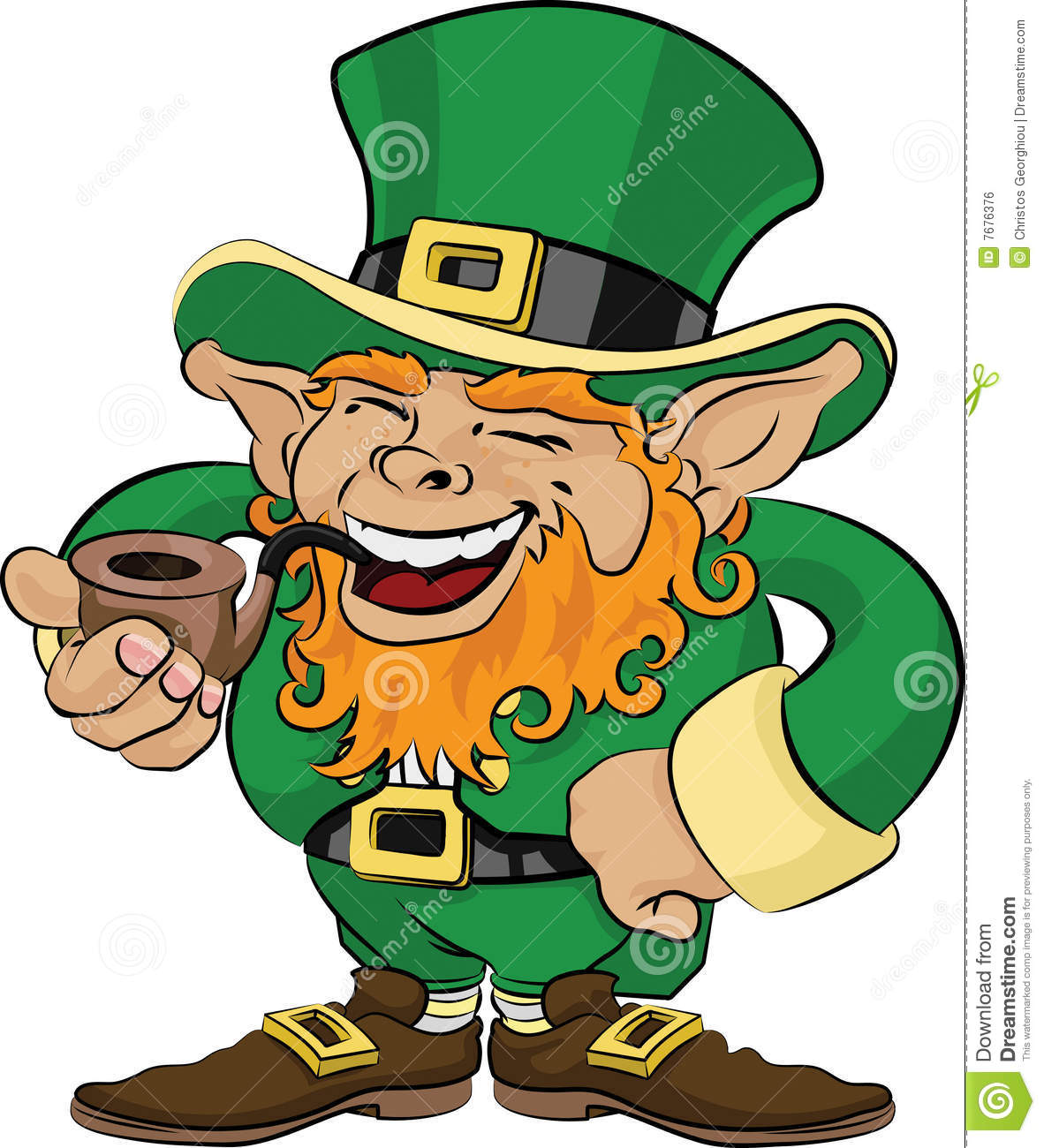 Illustration Of St. Patrick's Day Leprechaun Royalty Free Stock Image ...