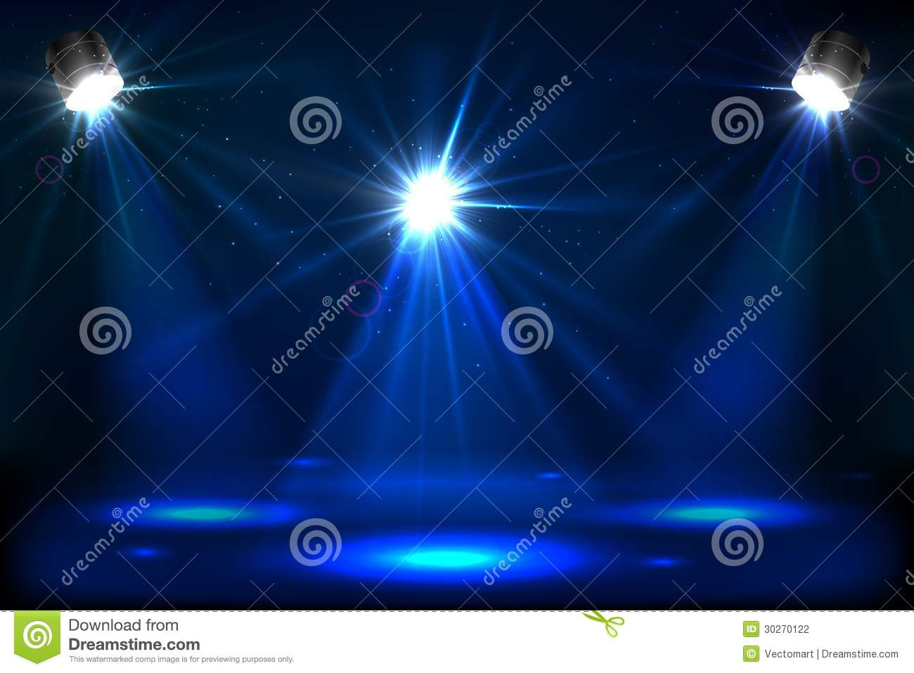 stage light stock vector image of modern design color