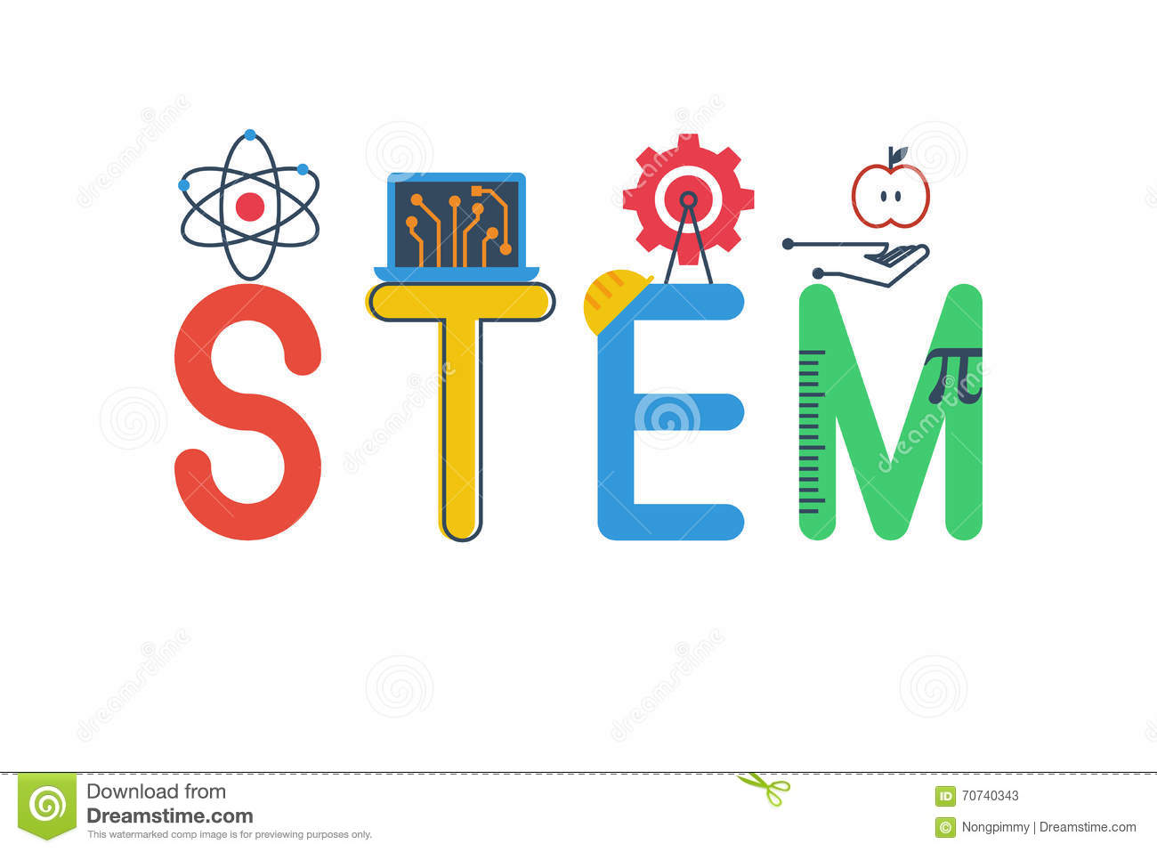 Illustration of STEM stock vector. Image of modern ...