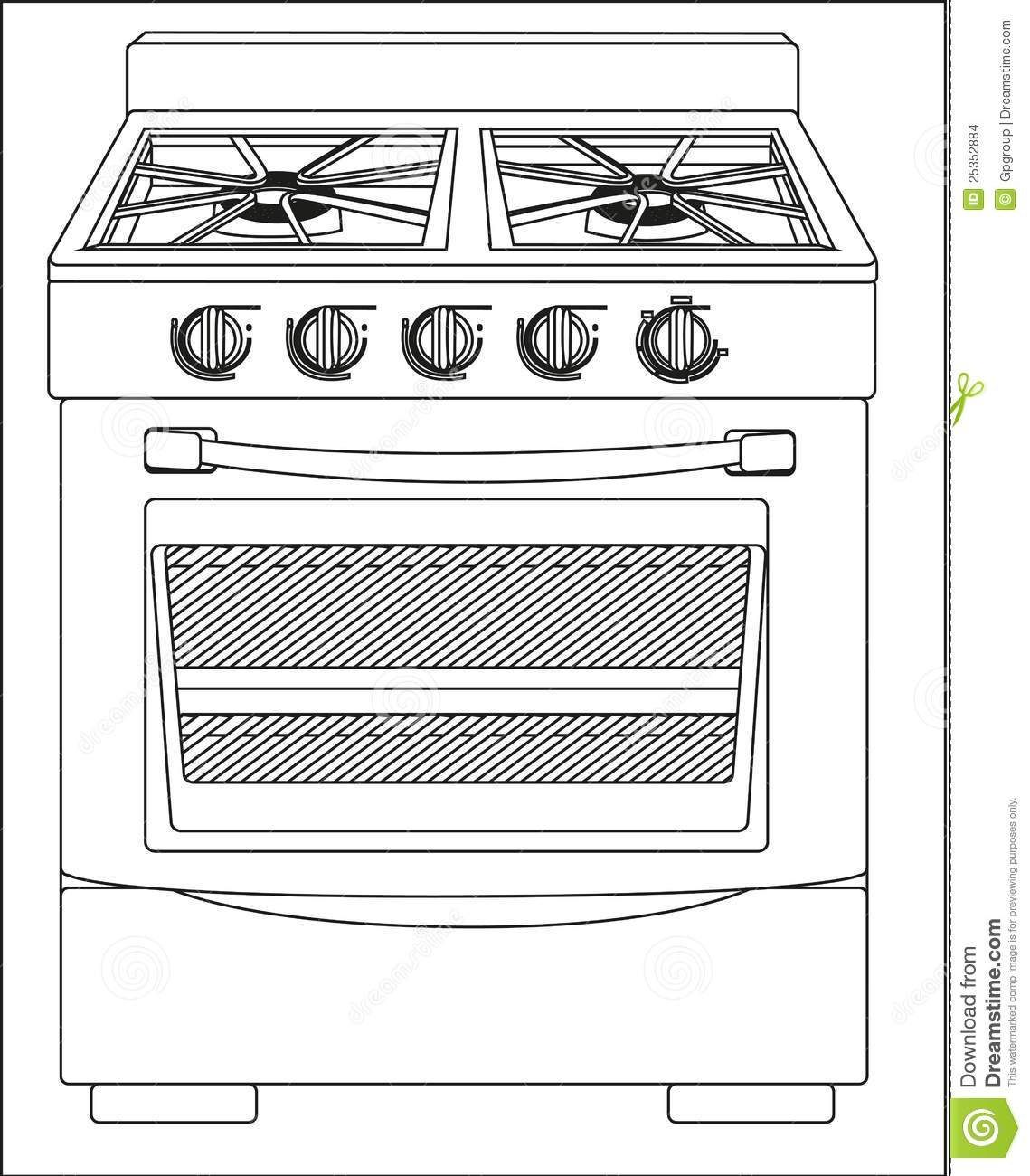 Illustration Of A Stove Stock Images Image 25352884