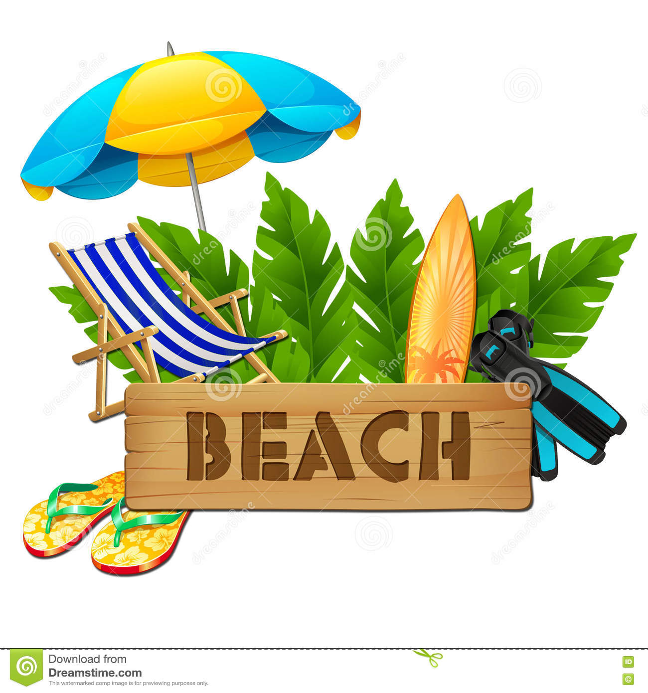 Illustration Of Summer And Vacation Logo
