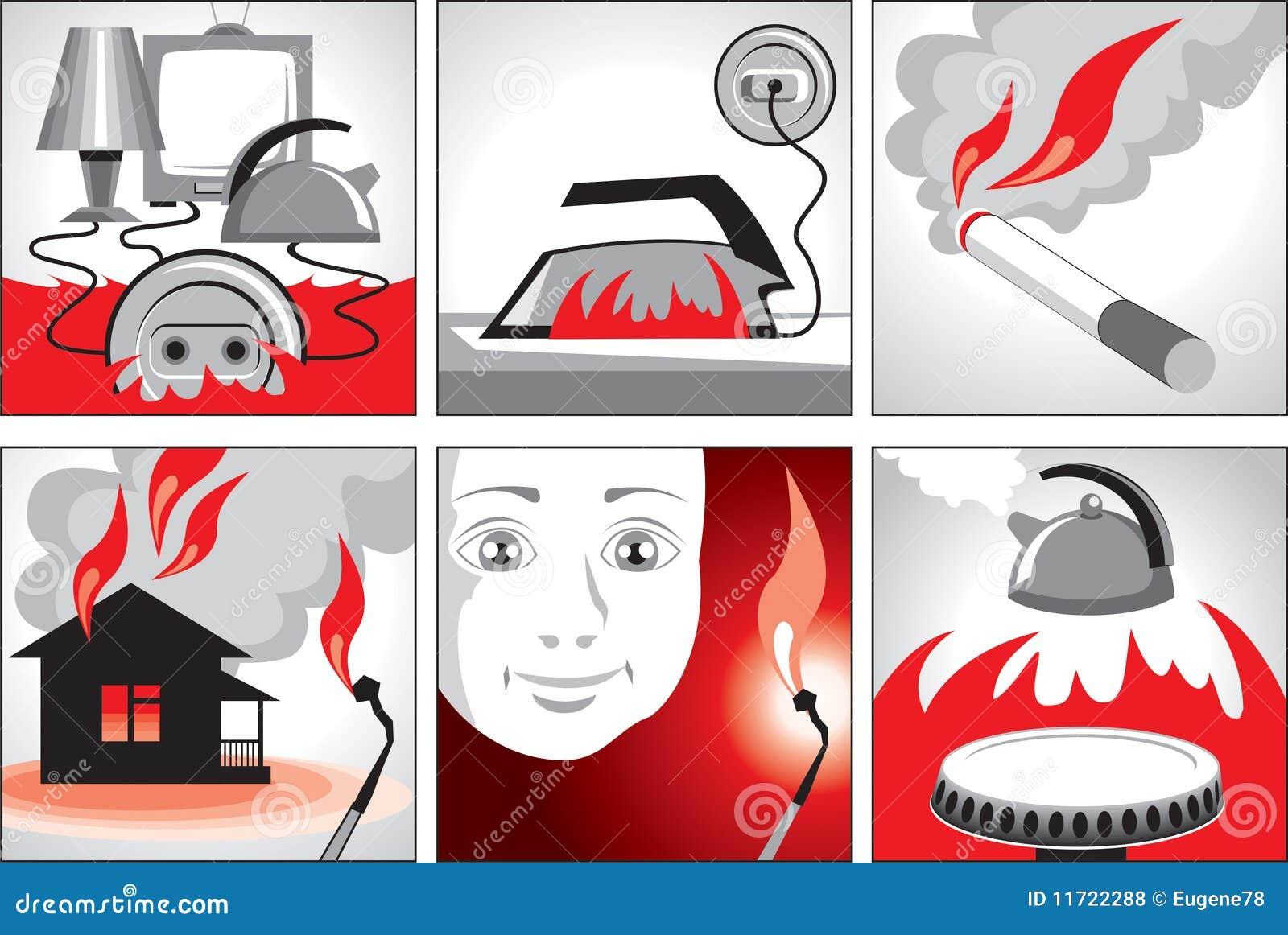 Illustration sur la sécurité incendie