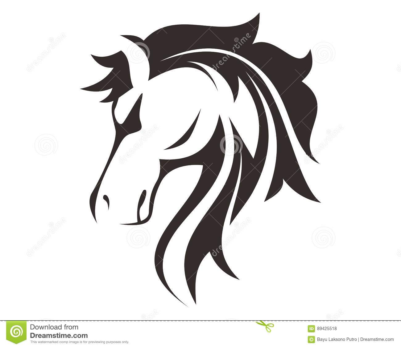 Illustration t te de cheval de dessin de sch ma illustration stock image 89425518 - Dessin de tete de cheval ...