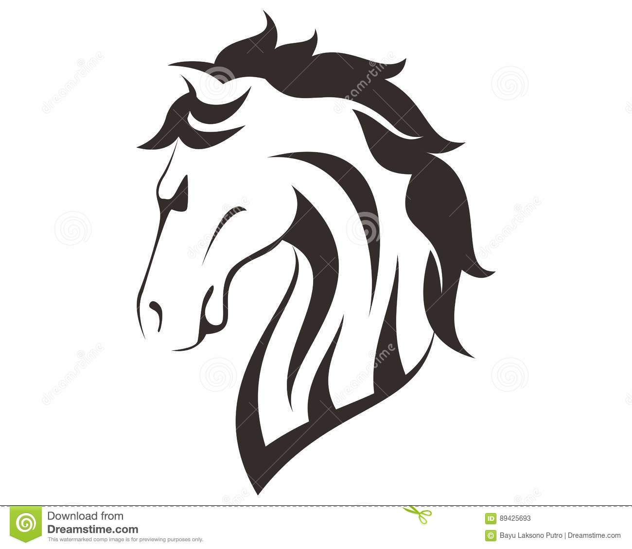 Illustration t te de cheval de dessin de sch ma illustration stock illustration du logo - Des dessin de cheval ...