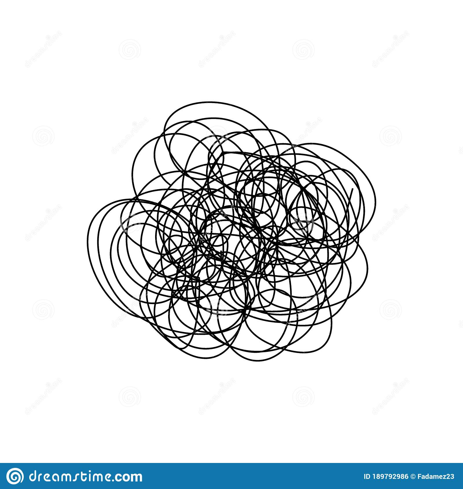 Illustration Of Tangled Yarn Metaphor Of Problem Solving Difficult Situation Chaos And Mess Stock Vector Illustration Of Curve Metaphor 189792986