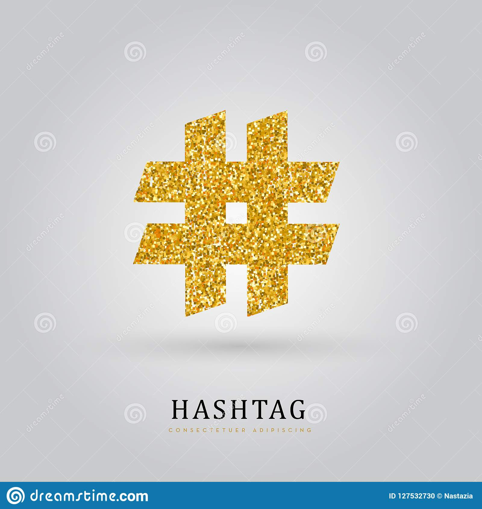 Golden hashtag