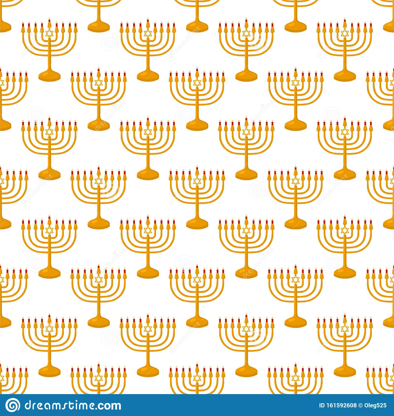 Illustration on theme big colored pattern menorah