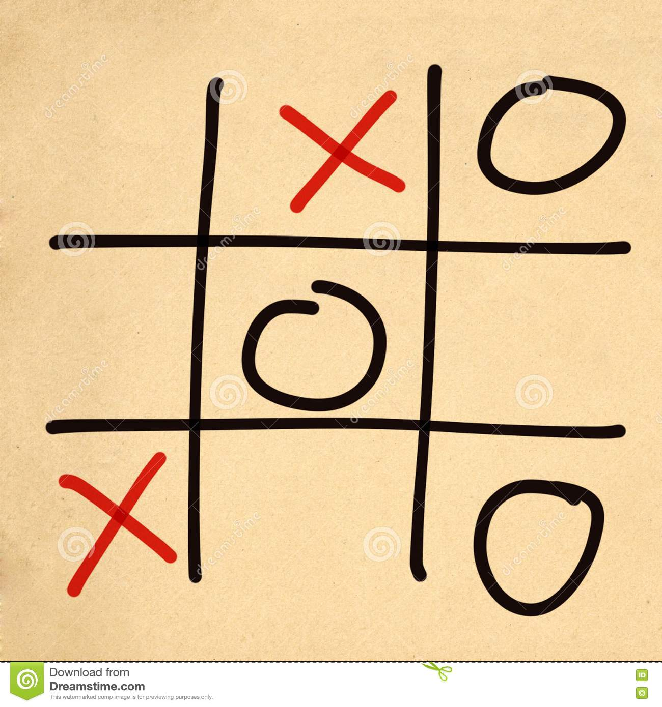 Illustration Tic Tac Toe XO Game Stock Illustration - Image: 75695046