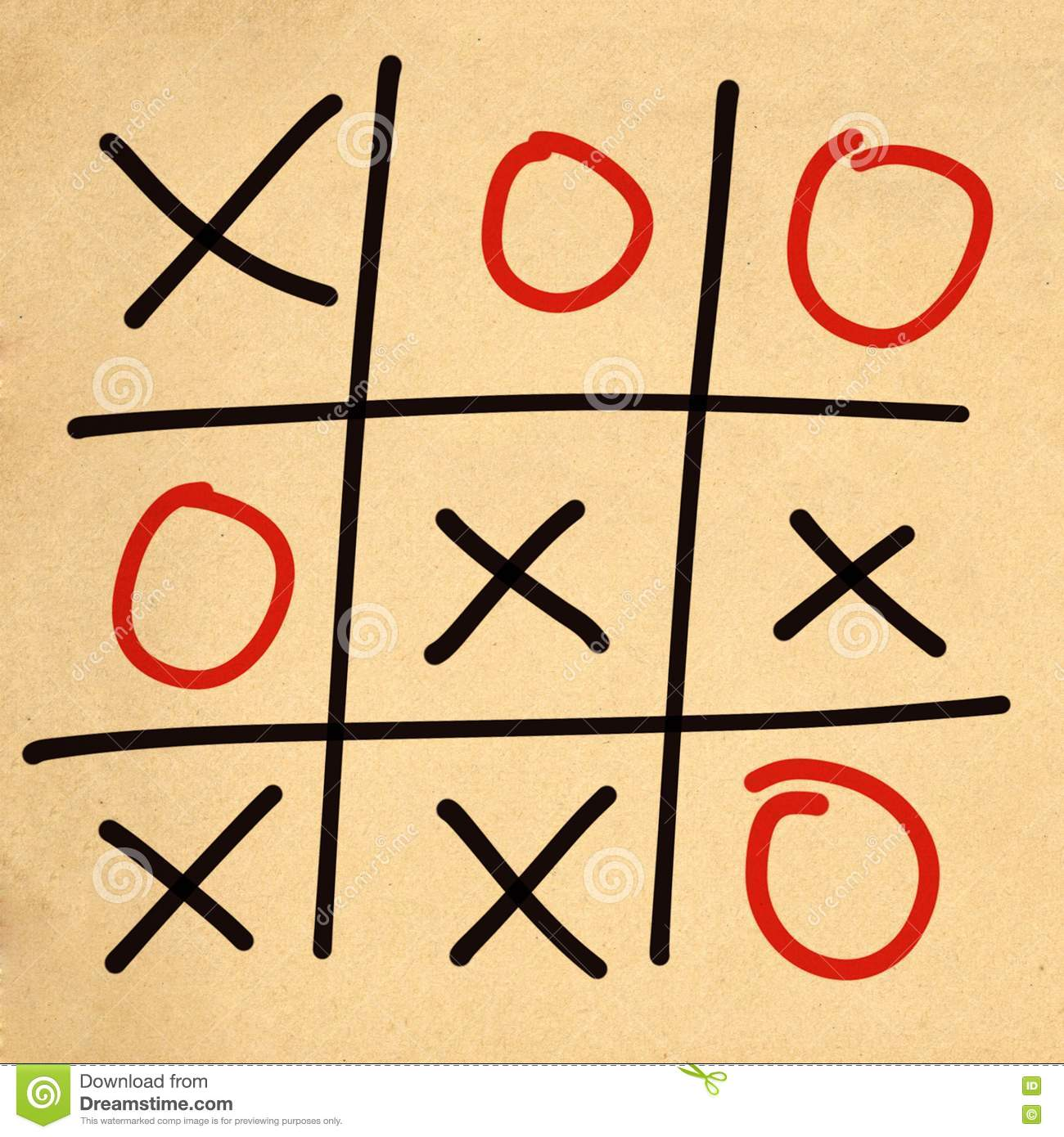 Illustration Tic Tac Toe XO Game Stock Illustration - Image: 75695126