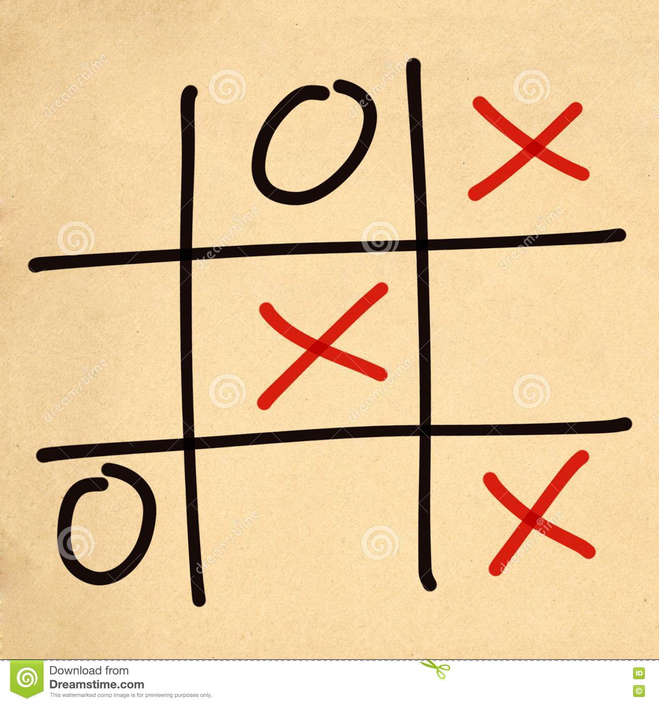 Illustration Tic Tac Toe XO Game Stock Illustration - Image: 75742331