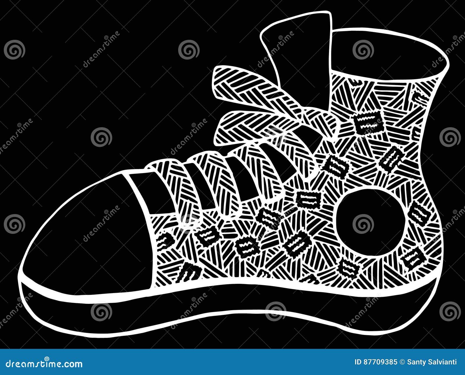 Illustration tirée par la main de chaussure