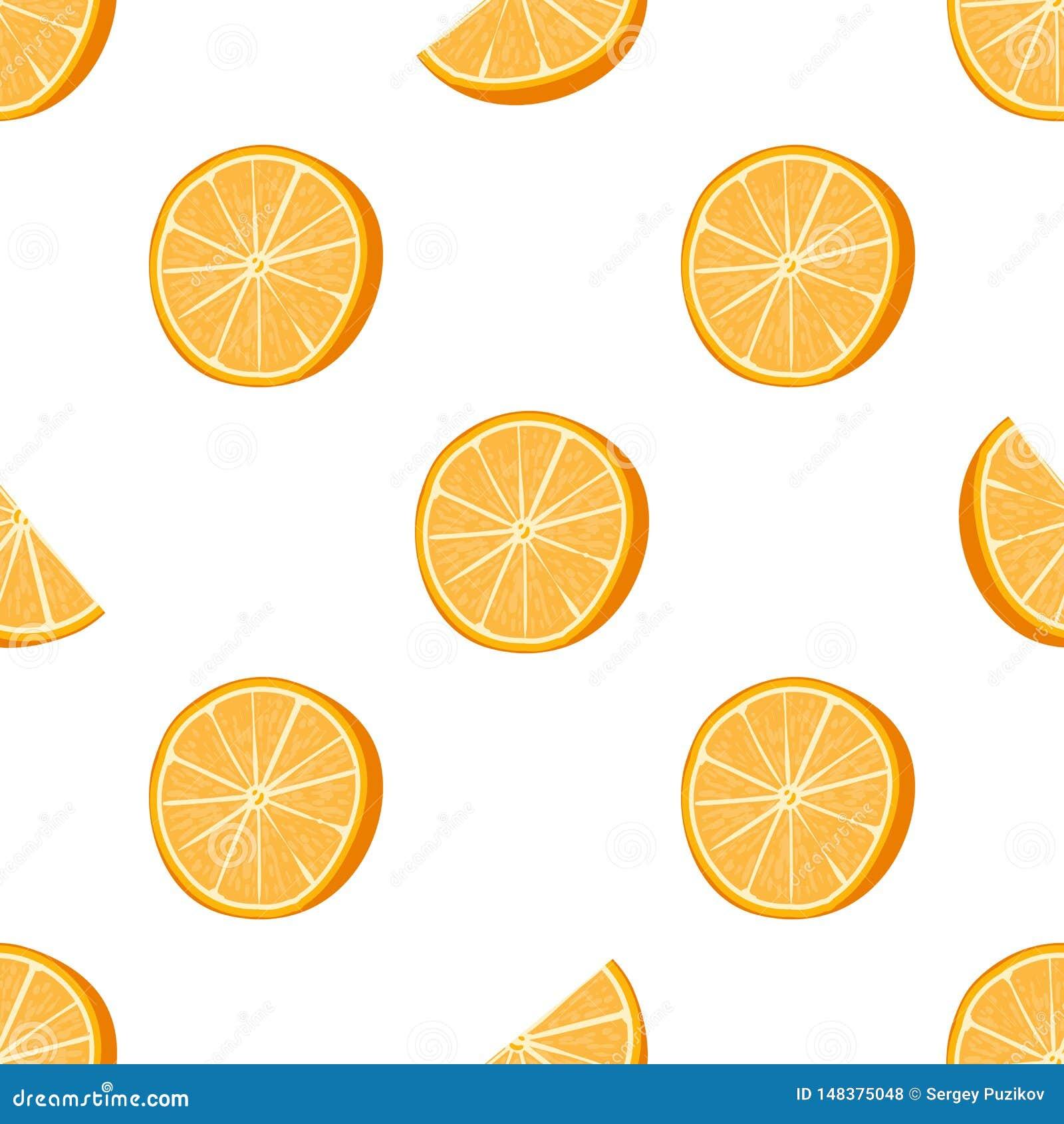 Illustration tirée par la main orange sans couture de vecteur de modèle pointillé