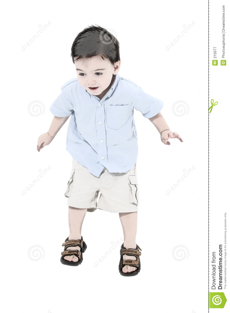 Illustration Toddler Boy Jumping Royalty Free Stock Photography
