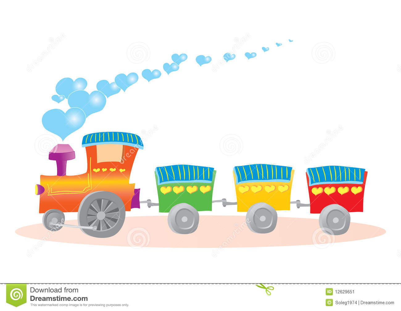 Stock Image Illustration Toy Train Hearts Image12629651 on car engine drawing