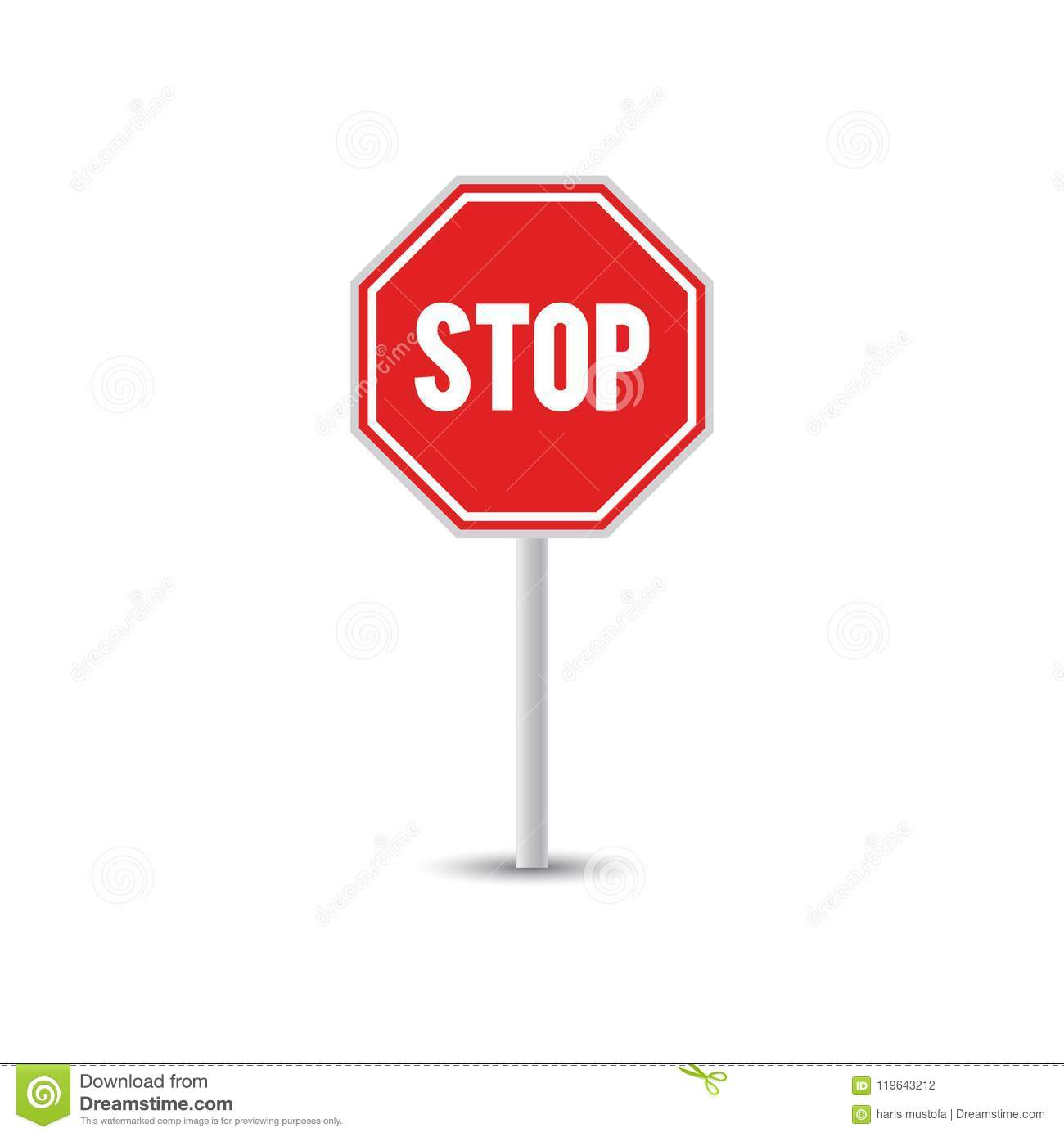 Traffic Sign Graphic Template Stock Vector Illustration Of Element
