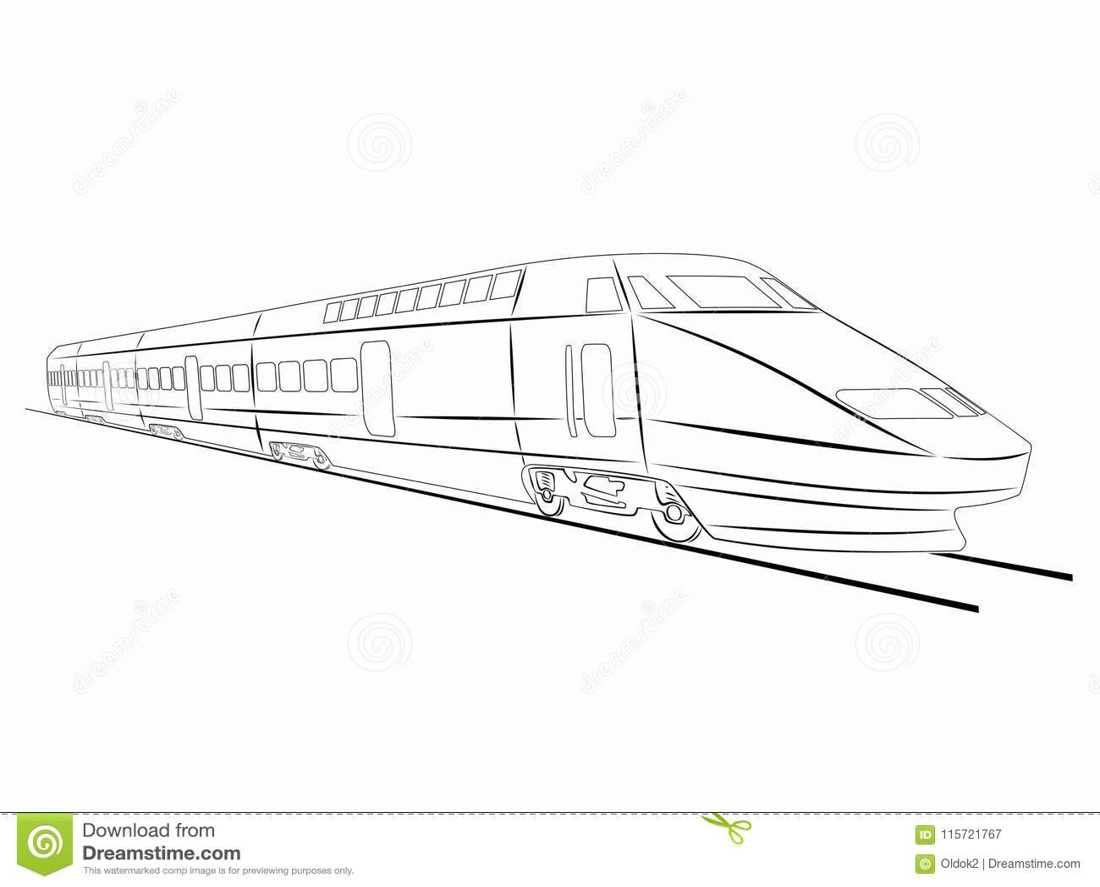 Illustration Train Vector Drawing Stock Vector Illustration of