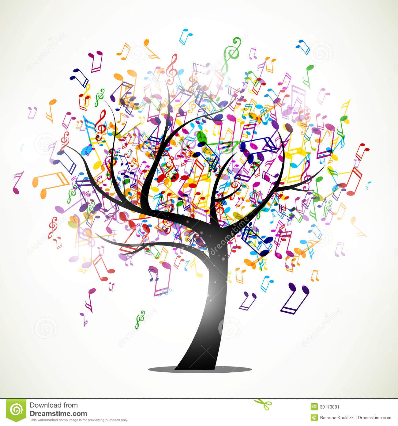 Abstract music tree