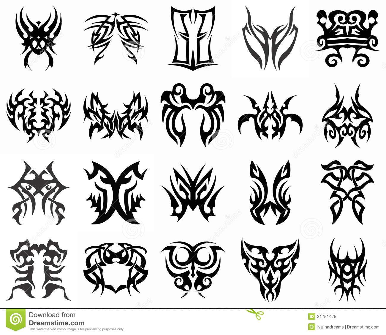 Illustration Tribal Tattoo Design Vinyl Ready Stock Illustration