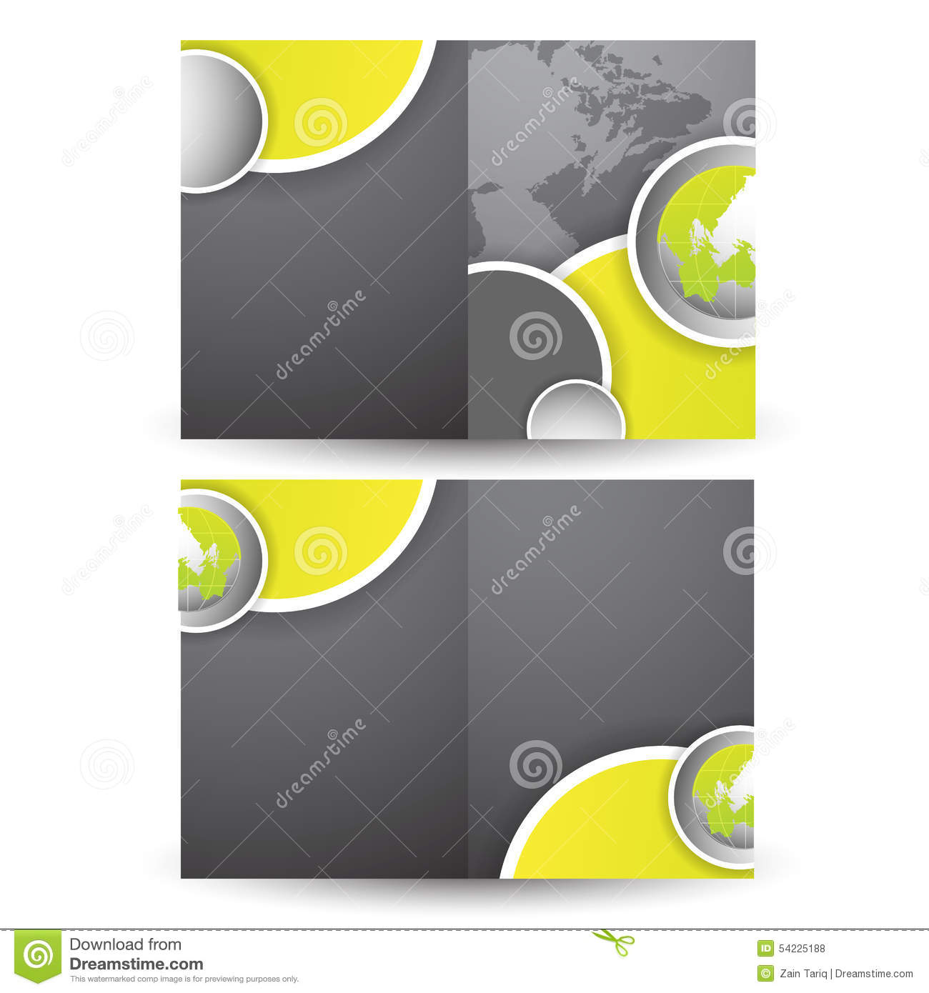 illustration of two fold business brochure vector stock vector