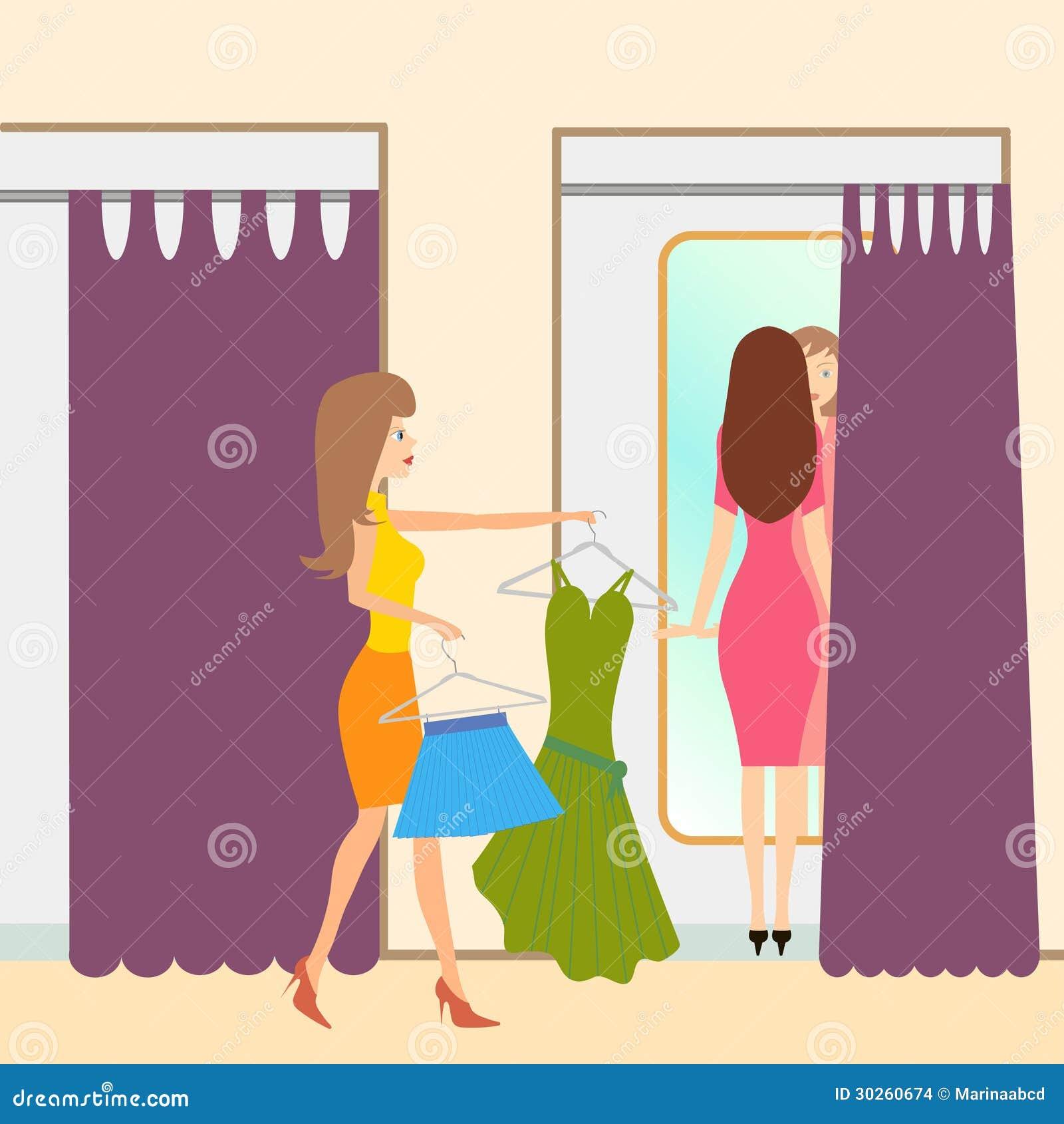 Fitting Room Stock Illustrations 443 Vectors Clipart