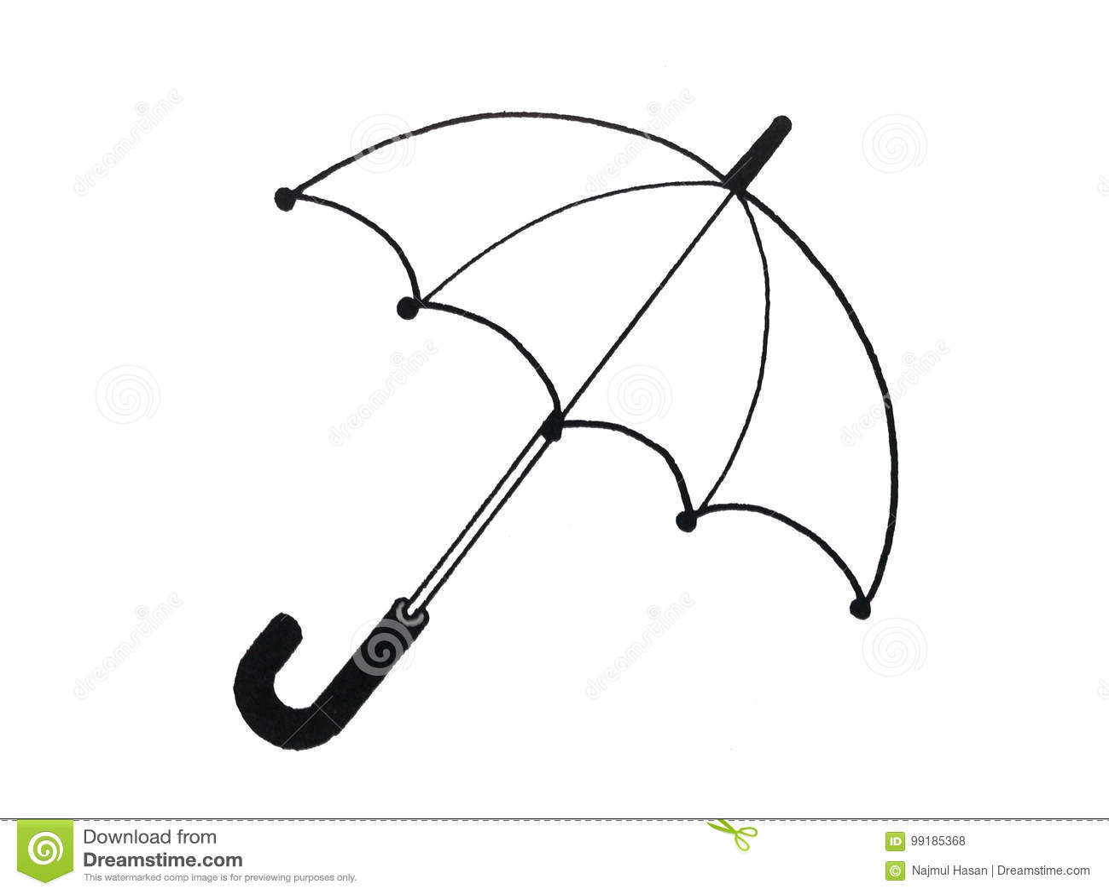 Illustration Of An Umbrella Stock Illustration Illustration Of