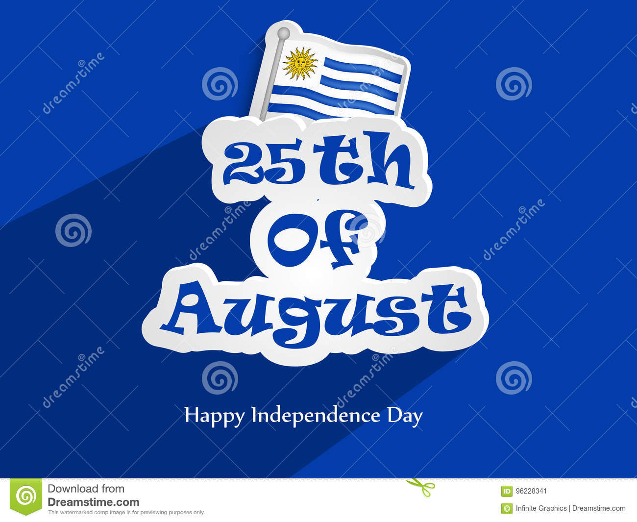 Illustration Of Uruguay Independence Day Background Stock Vector