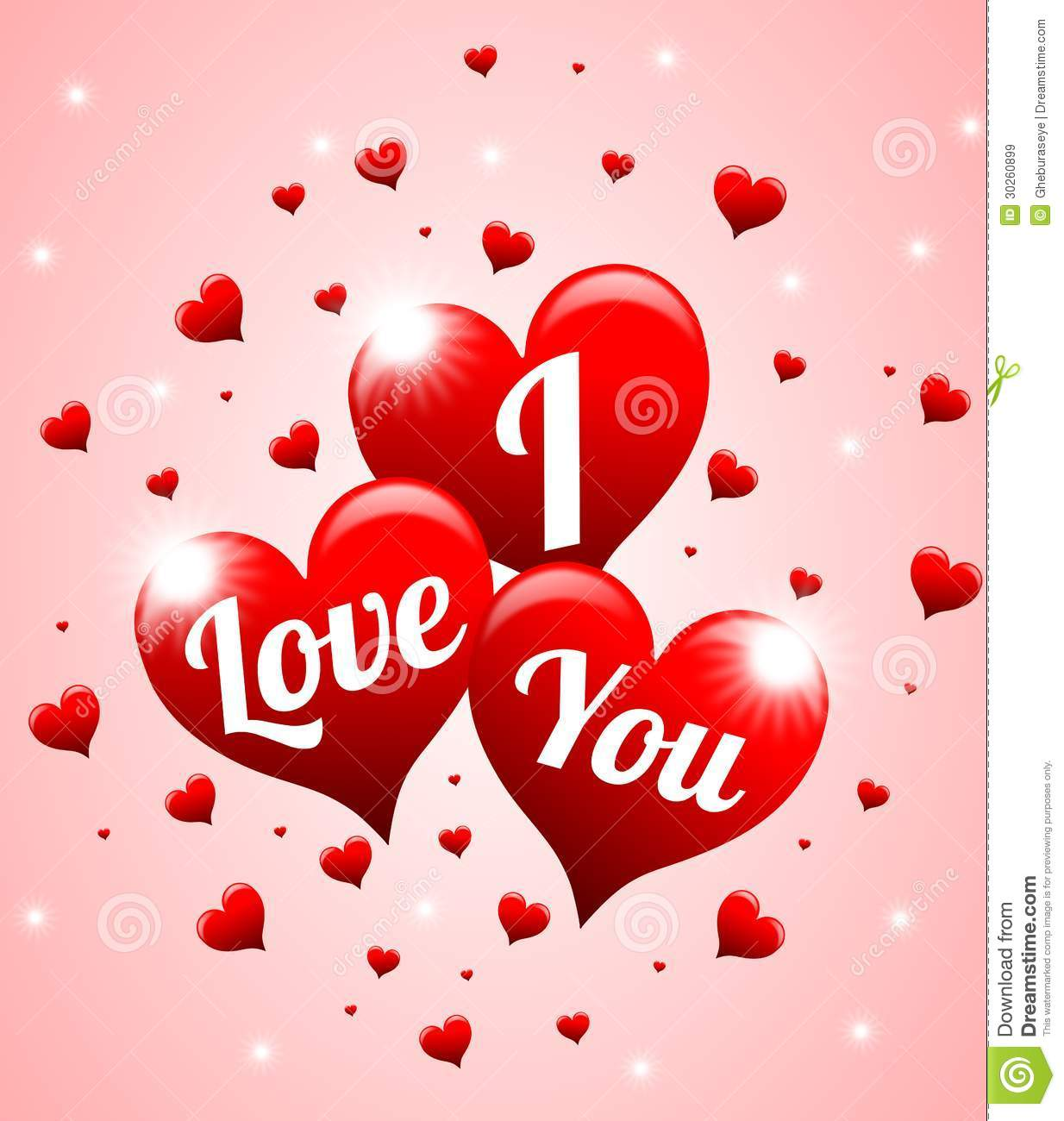 I Love You Royalty Free Stock Images - Image: 30260899