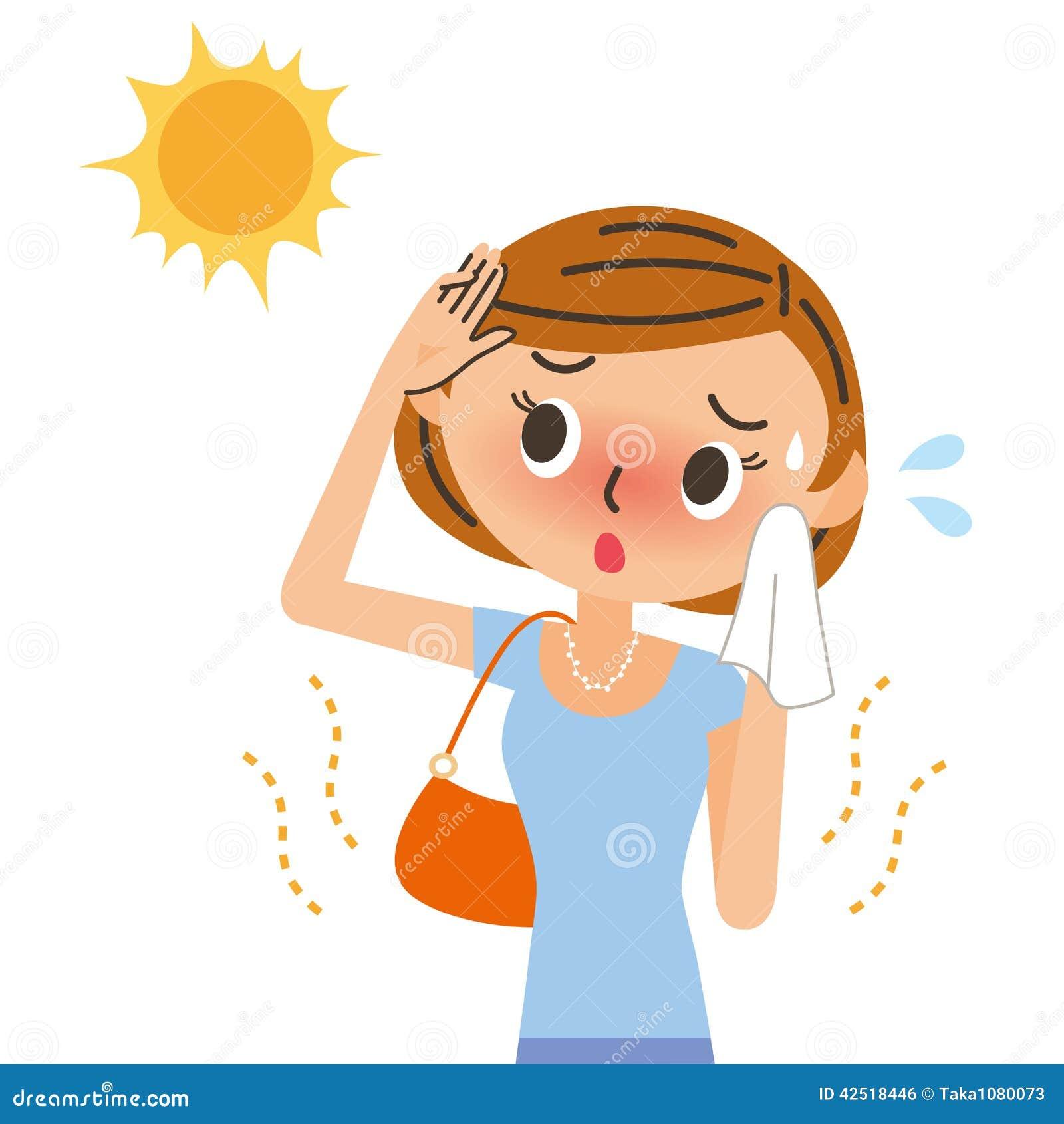 Illustration uv de coup de soleil pour des femmes illustration de vecteur illustration du - Bepanthen pour coup de soleil ...