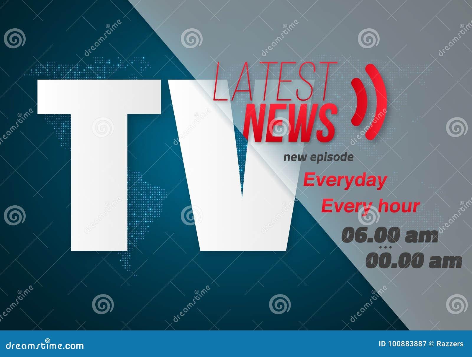 vector breaking news banner broadcast news design news report