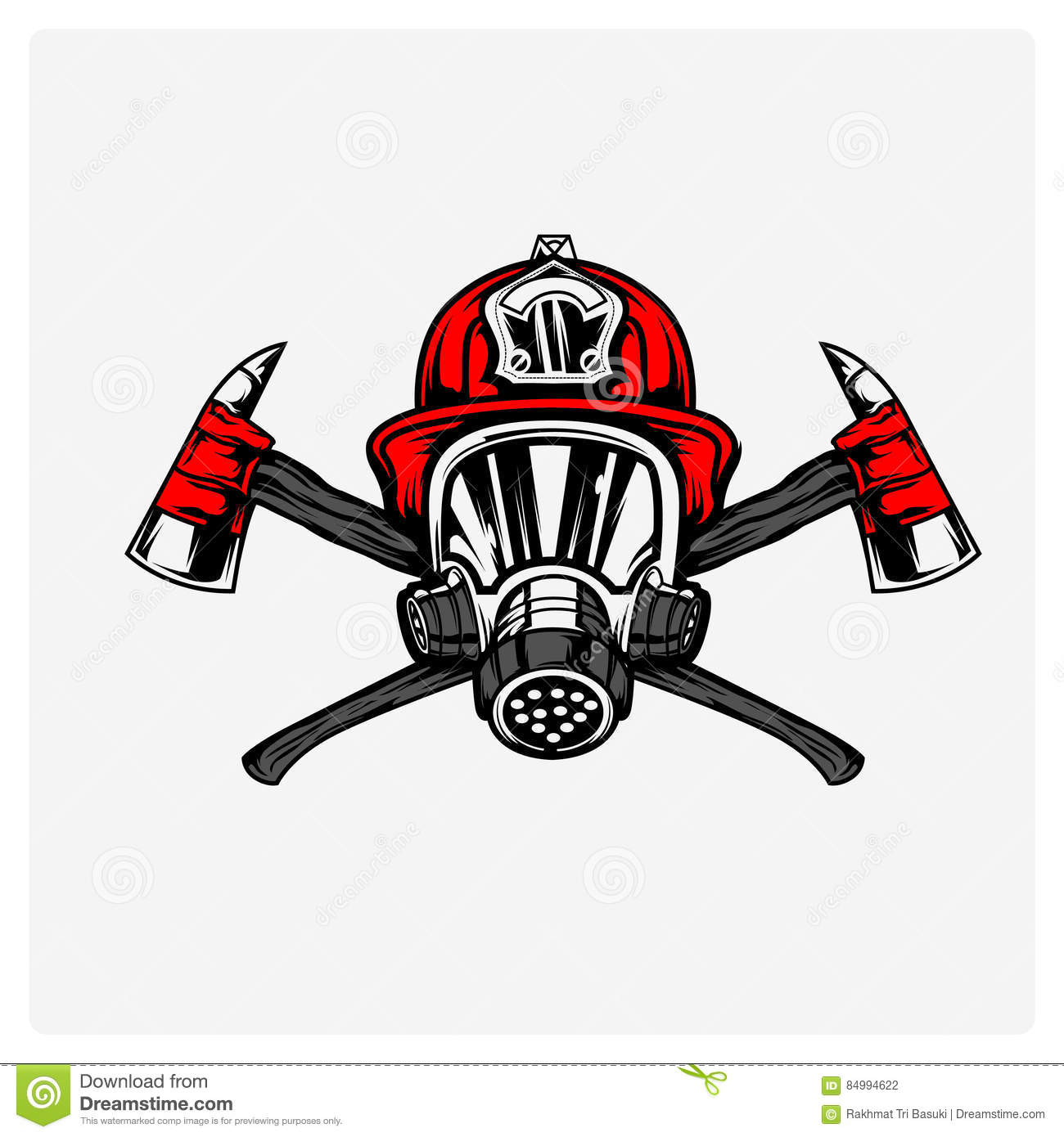 Illustration Vector Of Firefighter Stock Vector Illustration Of