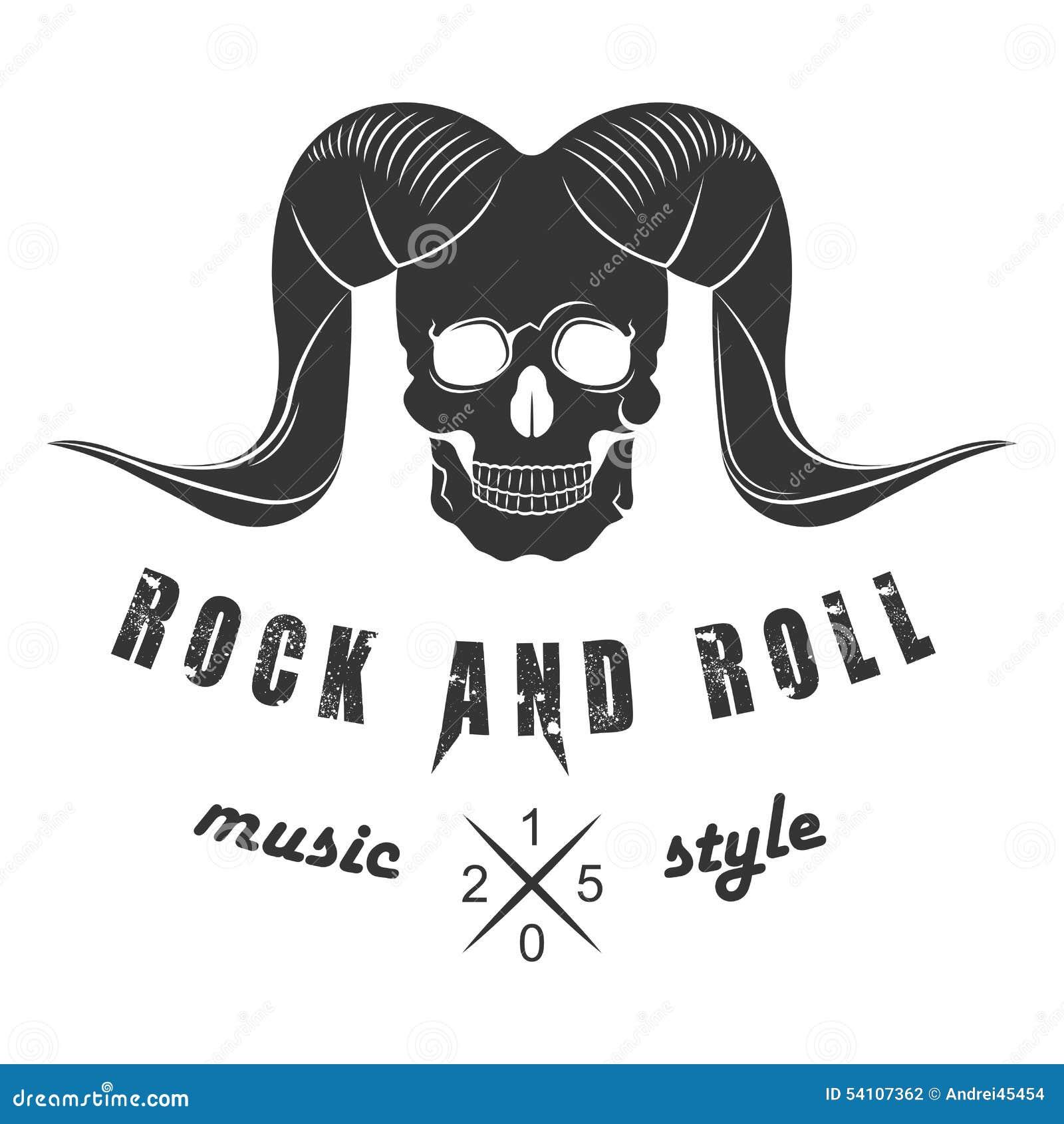 Illustration Vector Logo of Rock Music