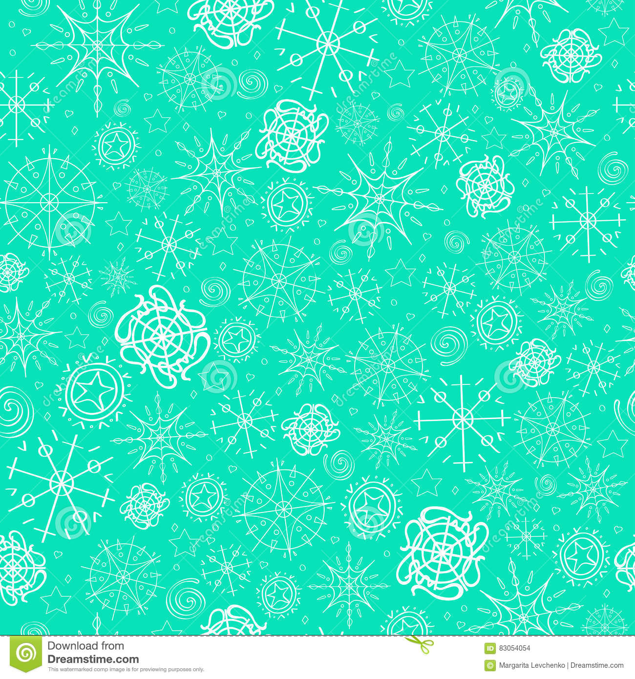 download illustration vector pattern image of snowflakes winter mint blue background for - Mint Christmas Cards