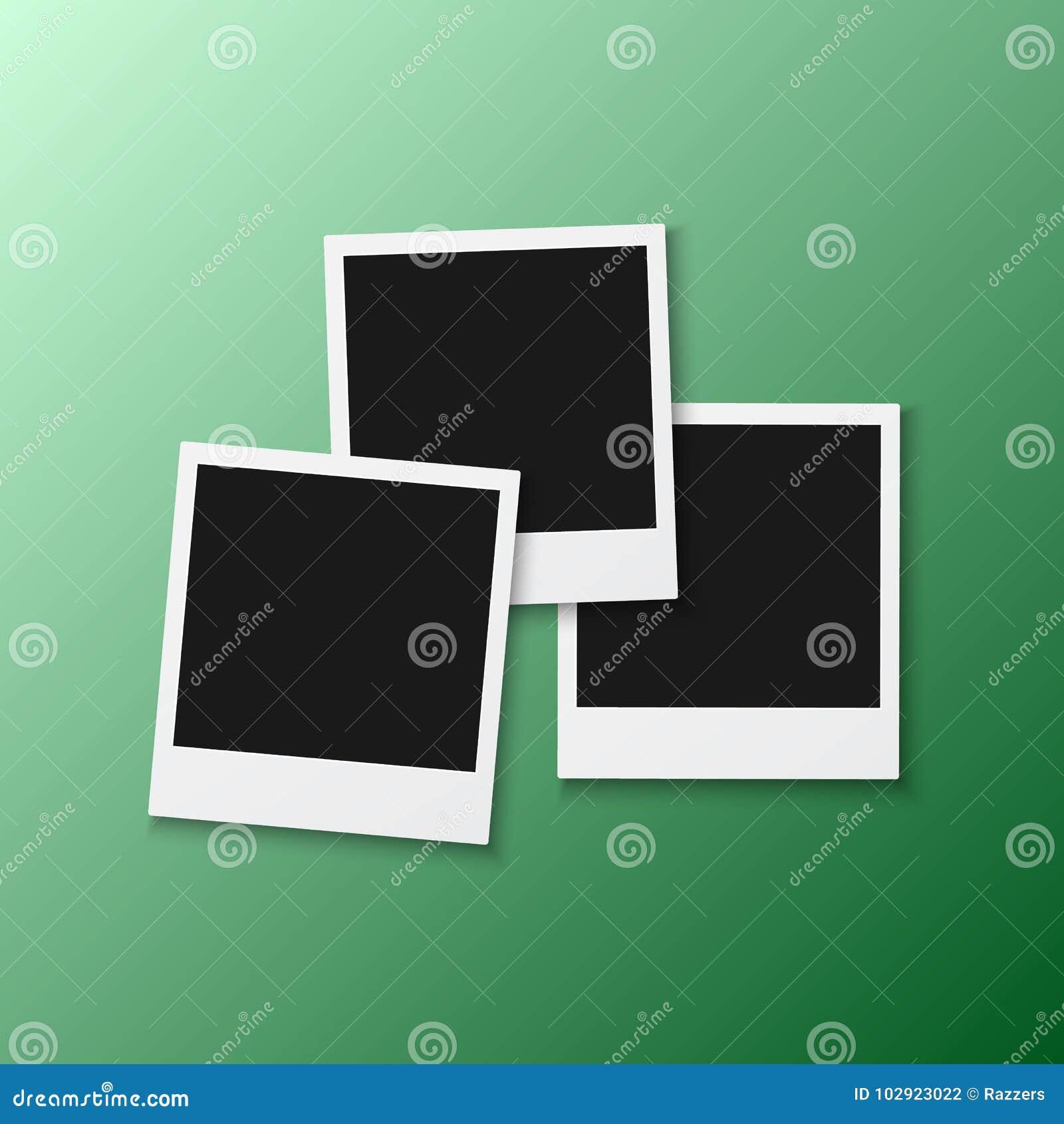 Vector Photo Frame. Realistic Snapshot Modern Photo. Instant Album ...