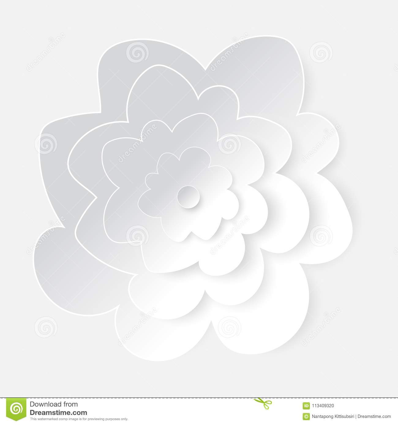 White paper cutting flower art stock vector illustration of nature download white paper cutting flower art stock vector illustration of nature background 113409320 mightylinksfo