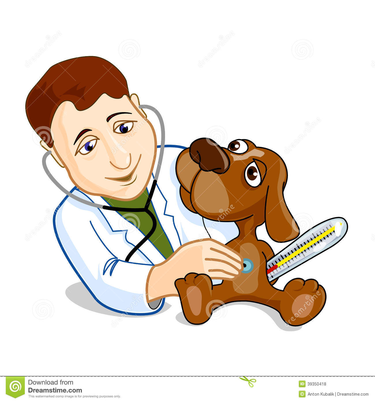 Illustration of veterinarian Veterinary Tools Clip Art