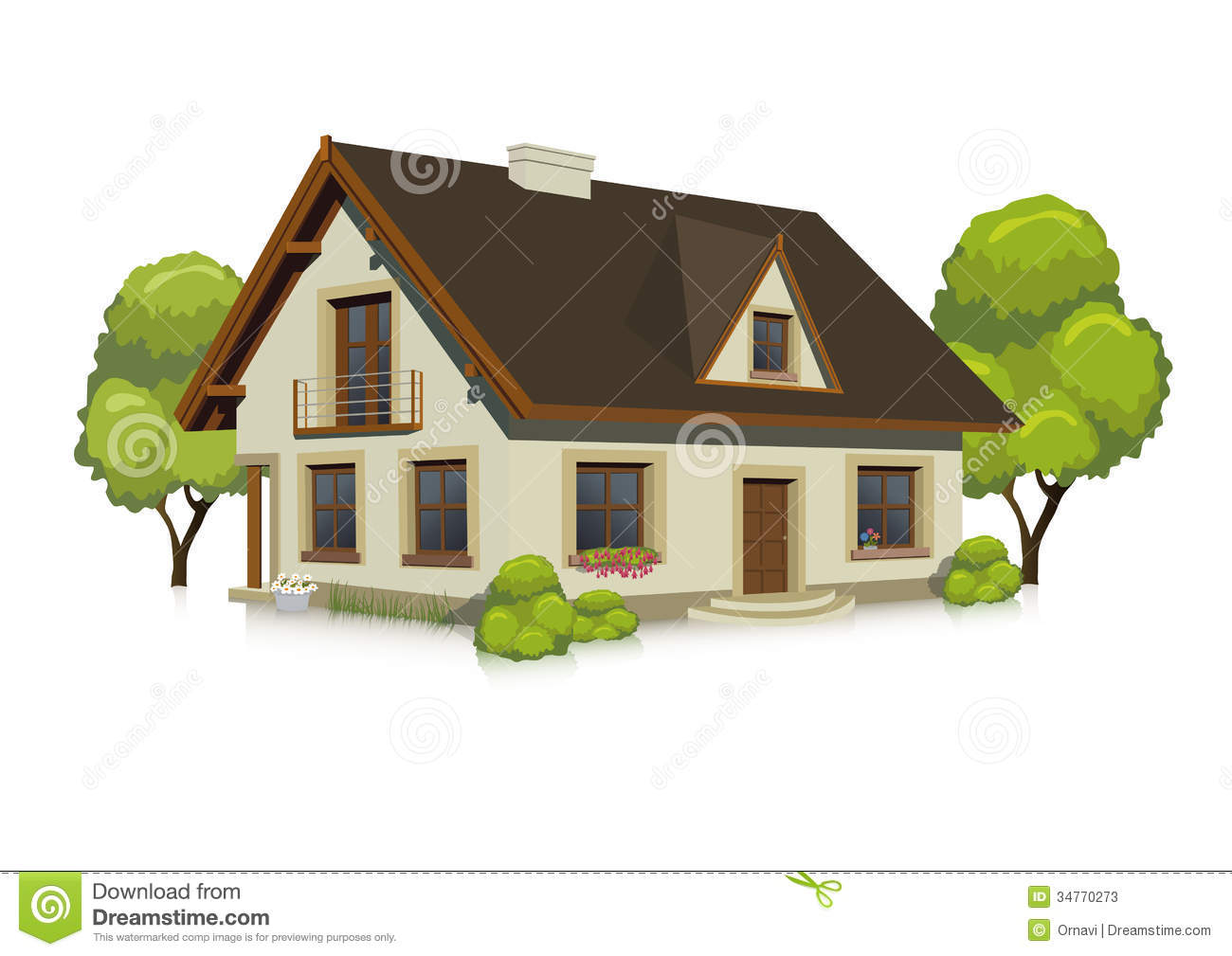 Illustration of visualizing a house stock vector for Free house photos