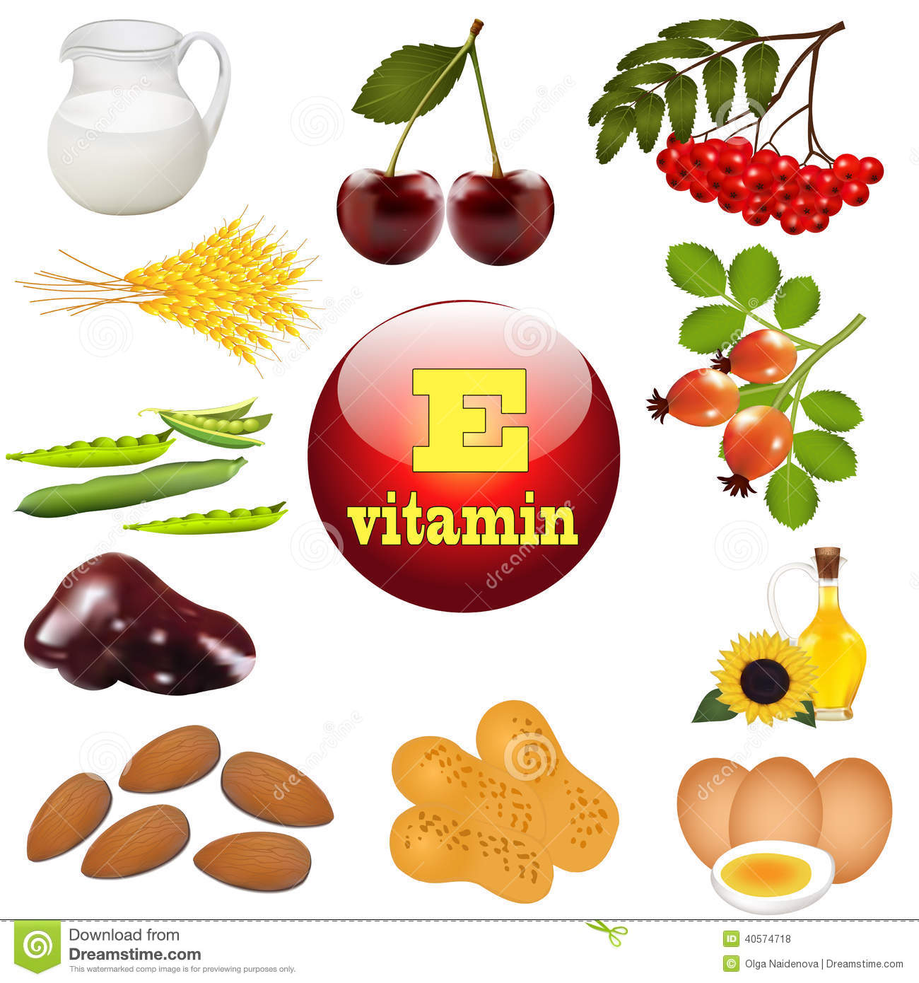 Illustration Vitamin E The Origin Stock Vector Illustration Of