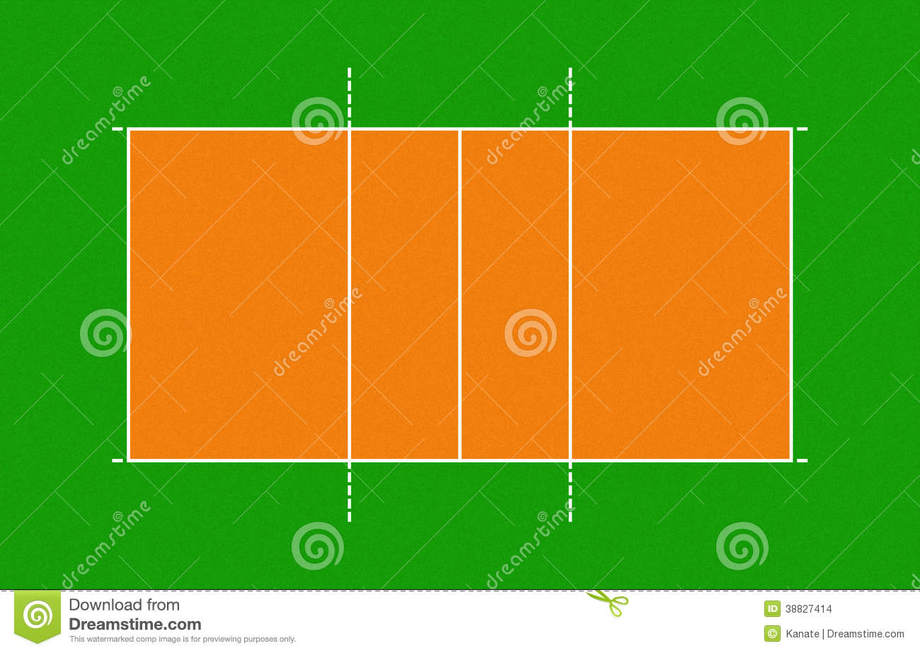 illustration of volleyball court stock illustration