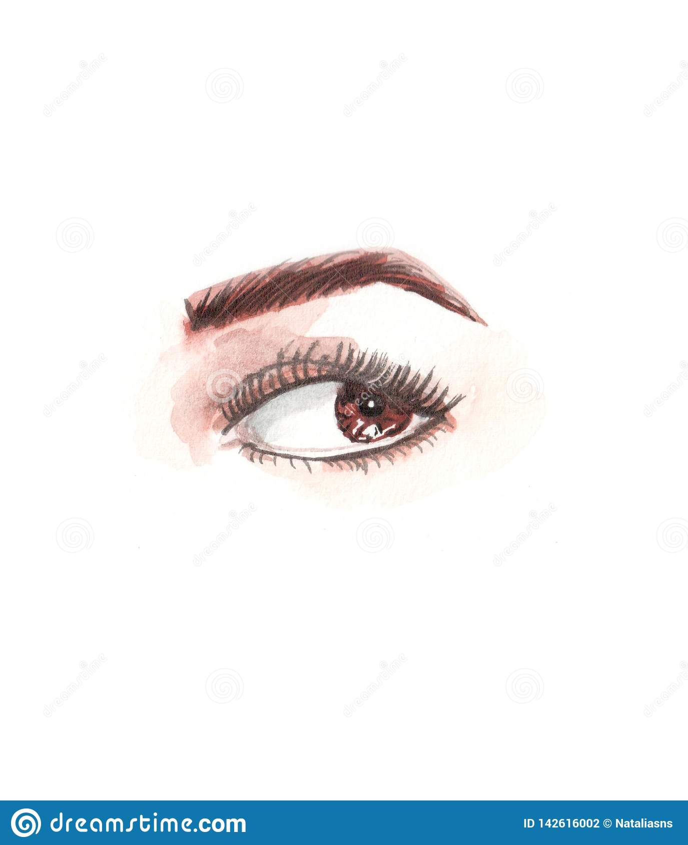 Illustration of watercolor eyes