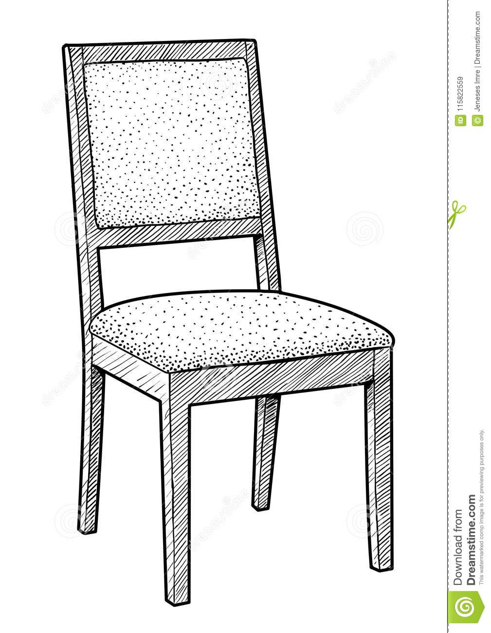 Surprising Wooden Chair Illustration Drawing Engraving Ink Line Art Pdpeps Interior Chair Design Pdpepsorg