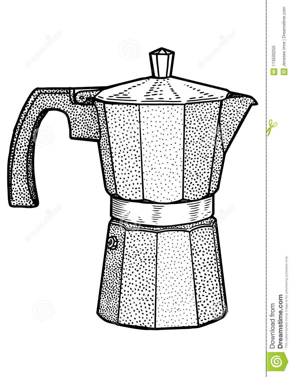 how to draw a coffee maker
