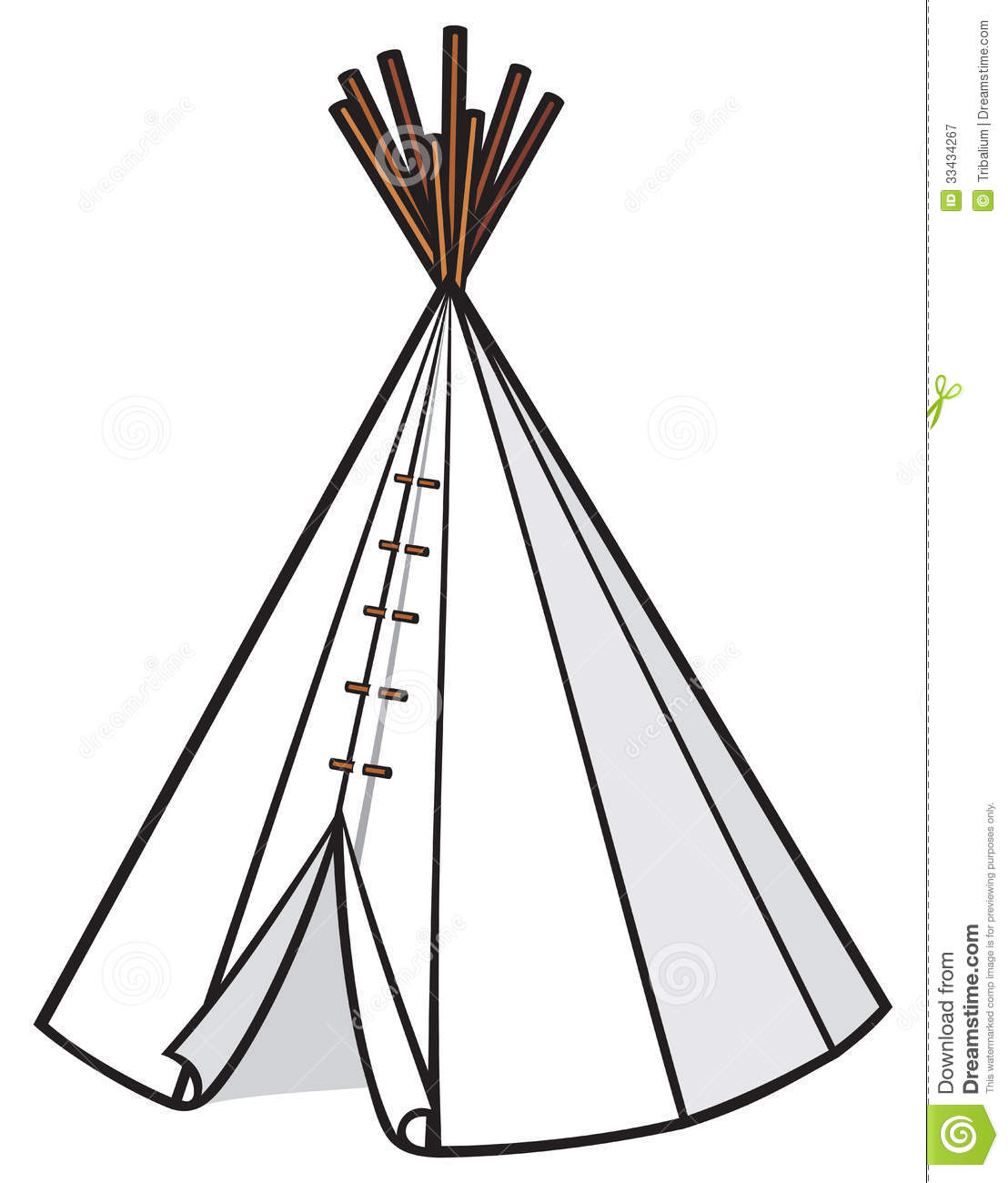 Illustration Of A Wigwam Royalty Free Stock Photography