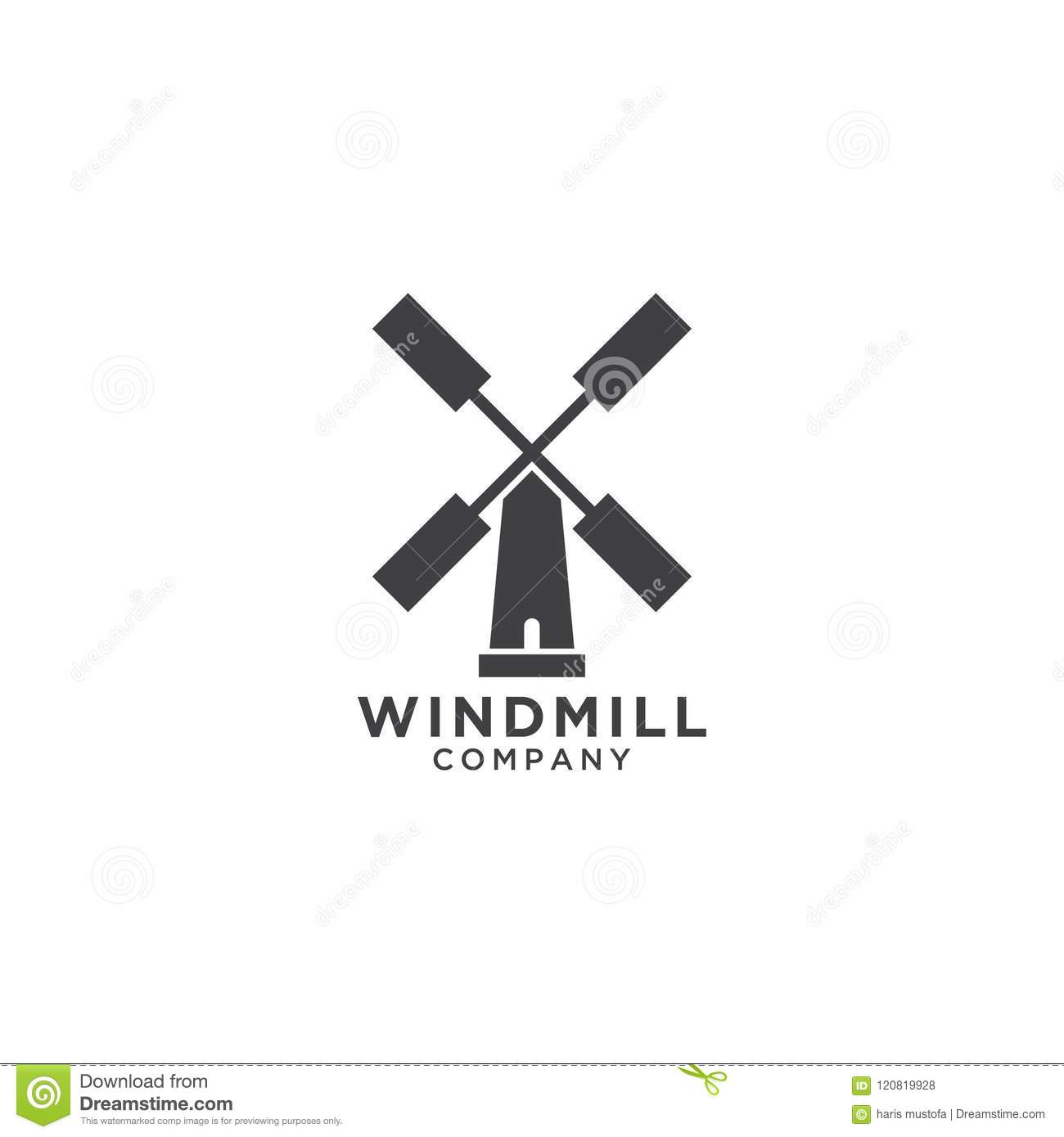 windmill logo design template stock vector illustration of vector