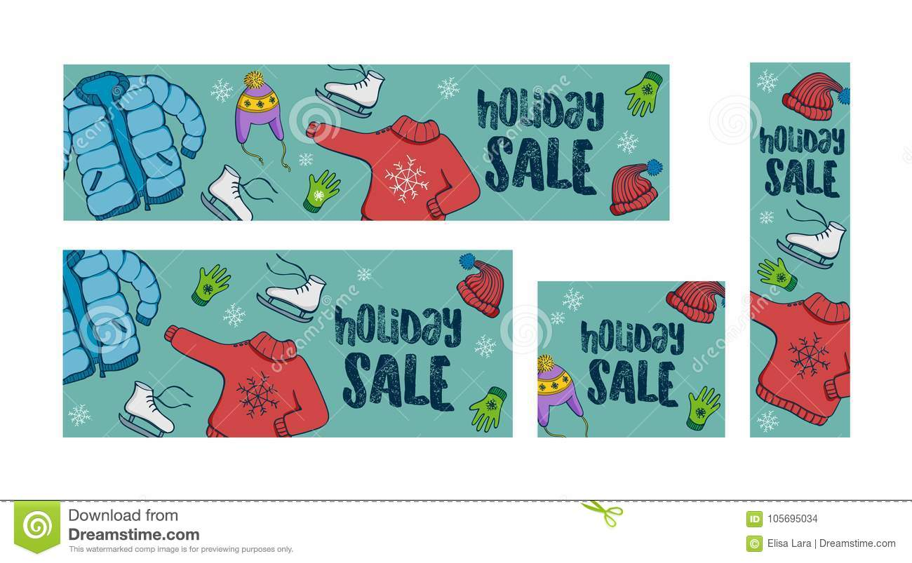Winter Holiday Banners Happy Wedding Day Banners