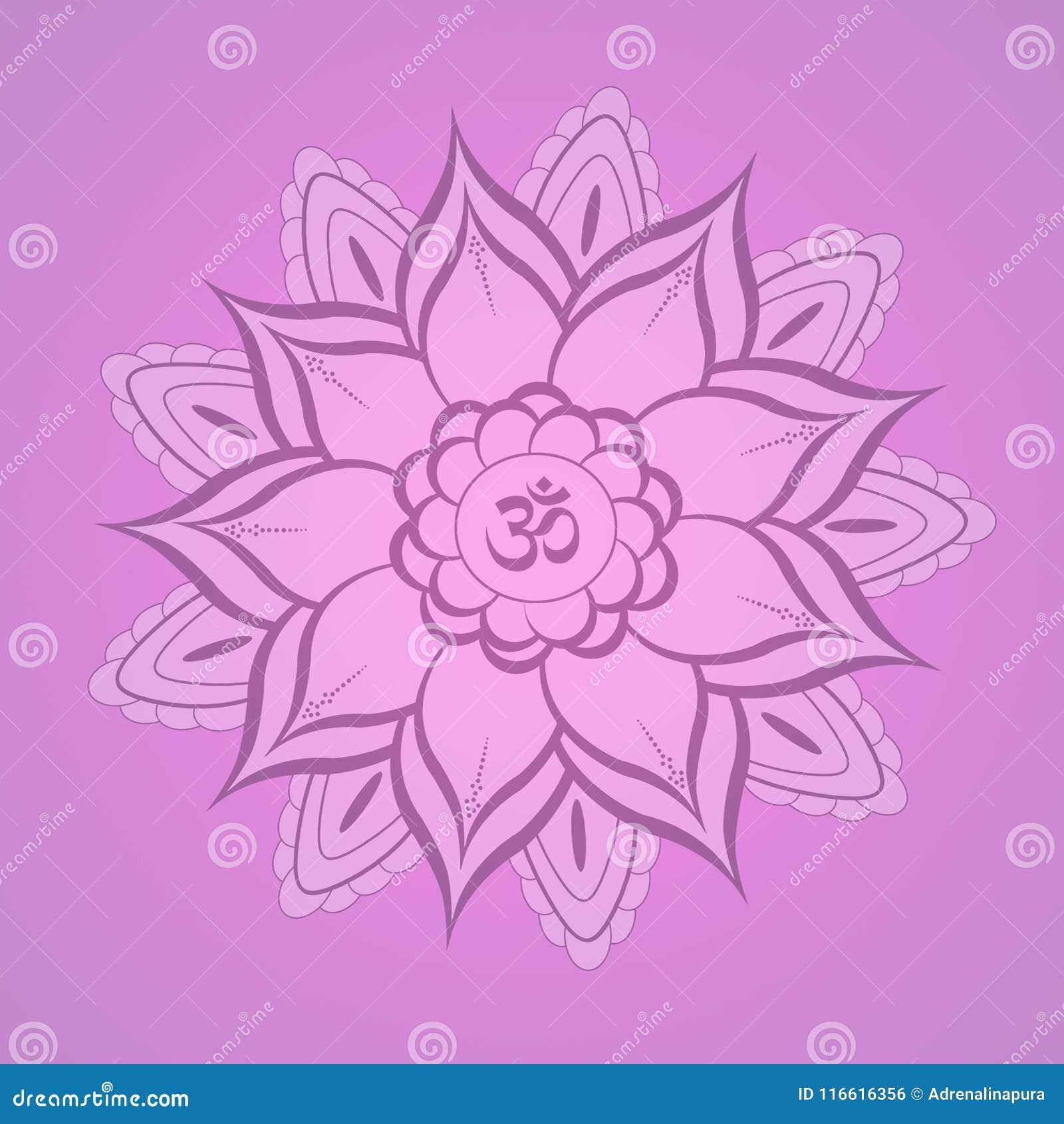Lotus Flower Yoga Symbol Stock Illustration Illustration Of Yoga