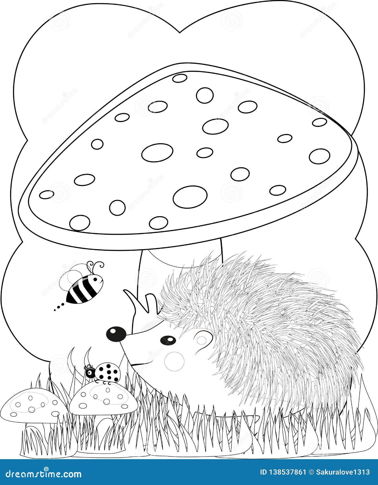 Illustration Zentangl. Doodle Hedgehog Coloring Page Anti ...