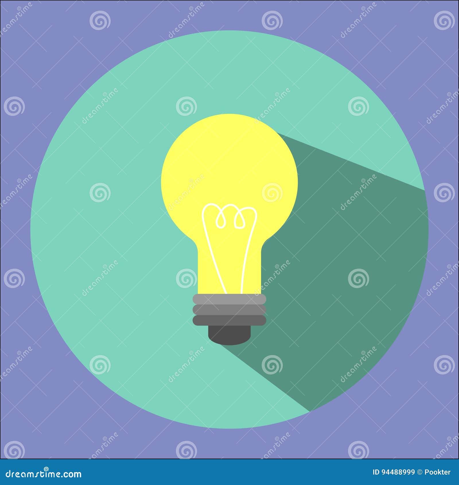 Illustrationen är en symbol för ljus kula Kan användas i olika publikationer